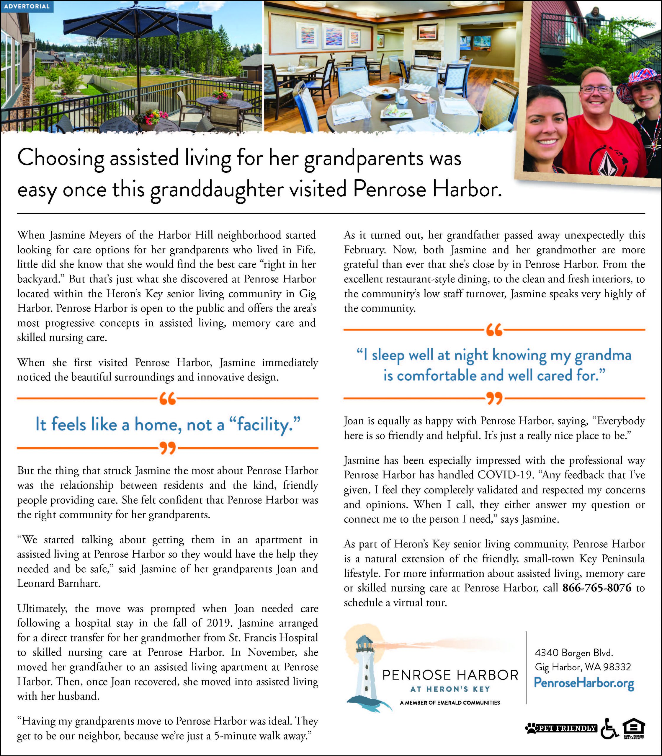 Assisted Living at Penrose Harbor