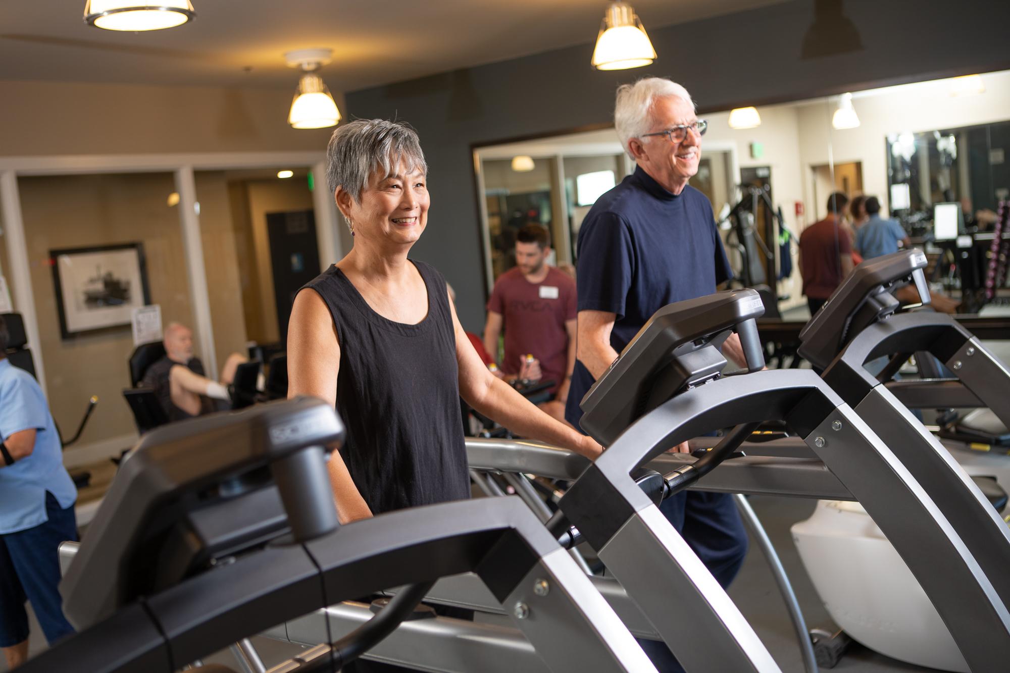 Heron s Key residents in fitness center