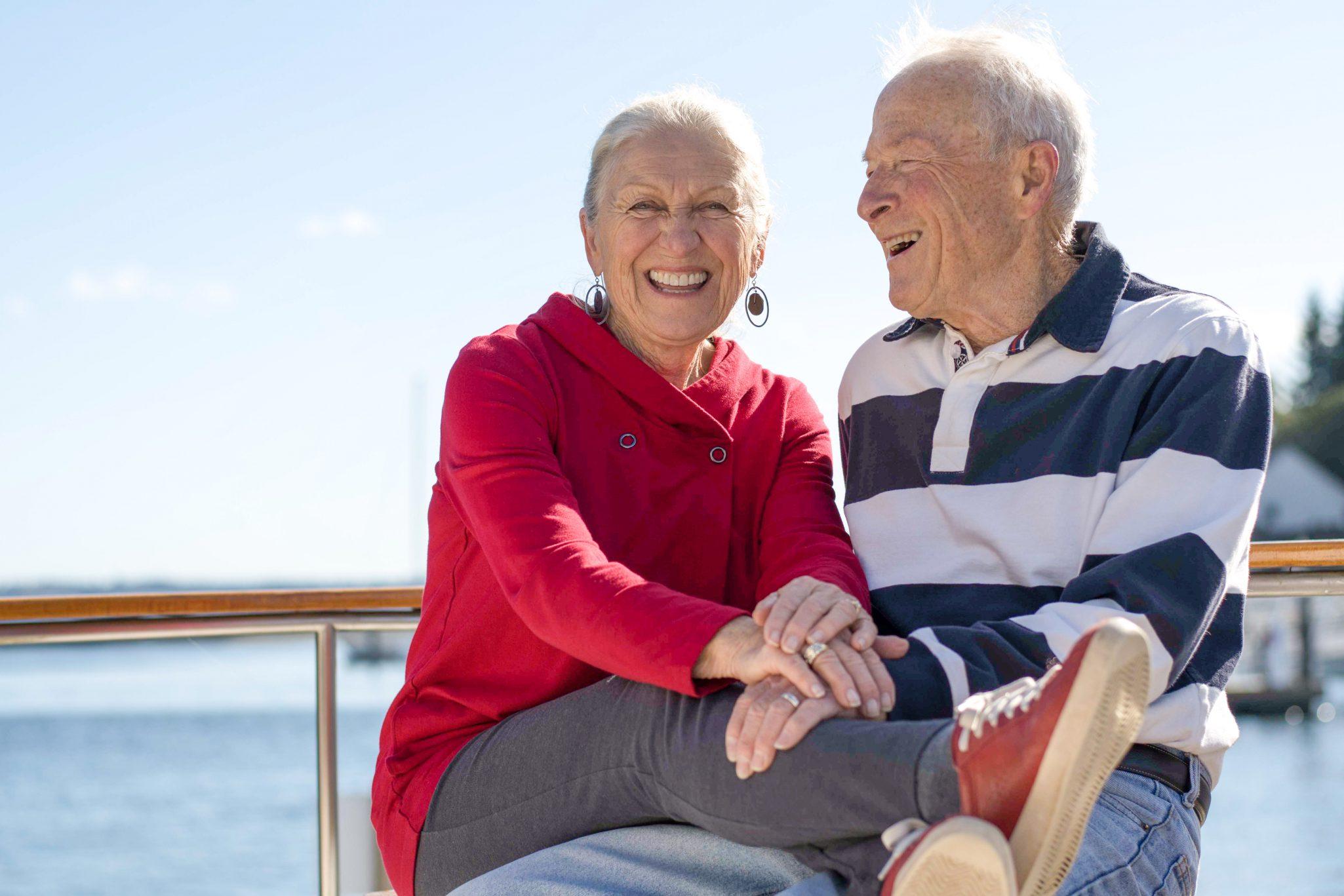 Senior couple enjoying independent living