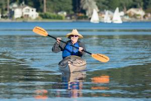 Heron's Key resident kayaking